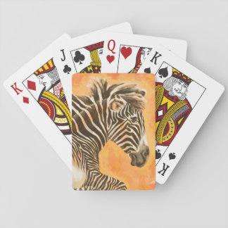 Zebra Poker Deck