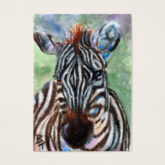 Zebra Portrait ACEO ArtCard Business Card