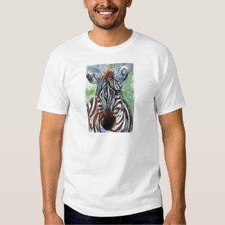 Zebra Portrait ACEO Mens Tshirt
