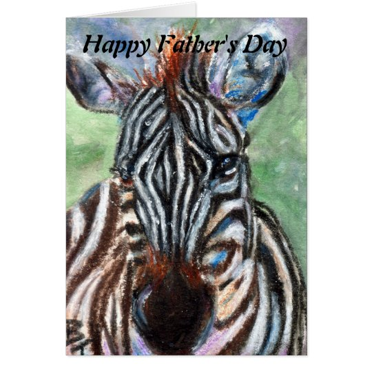 Zebra Portrait Father's Day Card