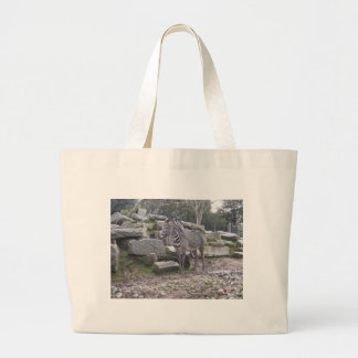 Zebra posing tote bags