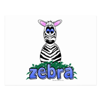 ZEBRA POST CARD