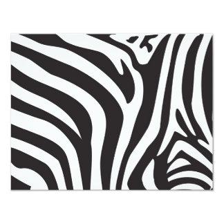 Zebra Print 11 Cm X 14 Cm Invitation Card