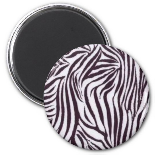 Zebra Print 6 Cm Round Magnet