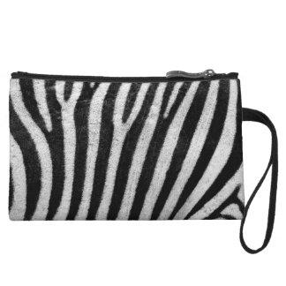 Zebra Print Abstract Fashion Mini Clutch Wristlet Clutch