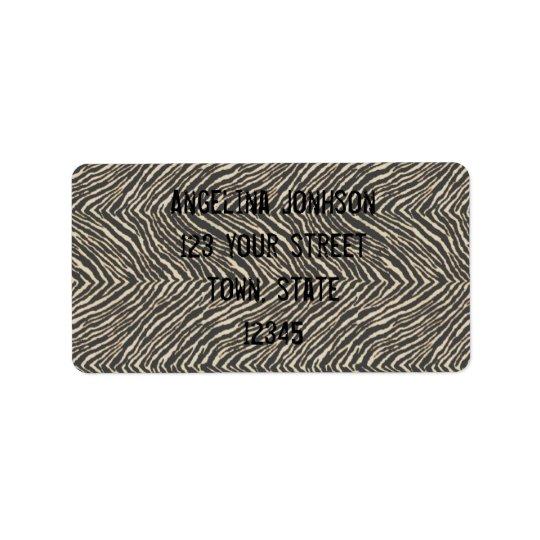 Zebra Print Address Label