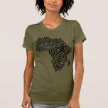 Zebra Print African Safari Africa Map Shirt