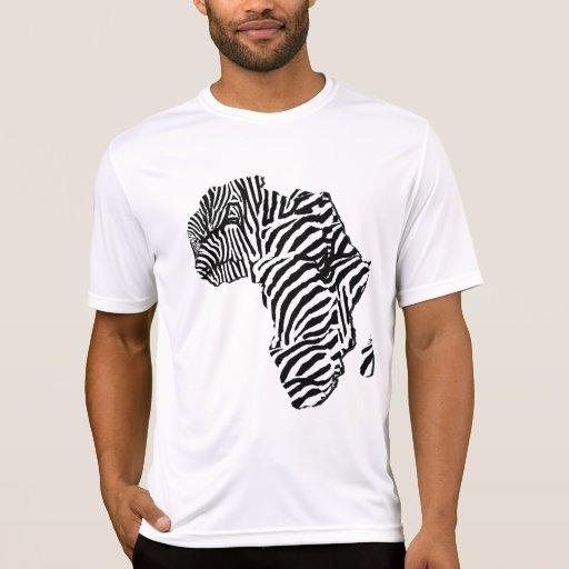 Zebra Print African Safari Africa Map Tshirt | Zazzle