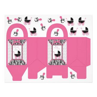 Zebra Print & Baby Carriage Favor Basket Flyer