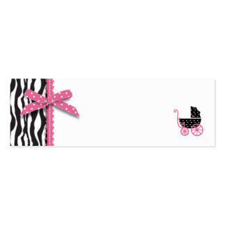 Zebra Print & Baby Carriage Gift Tag Business Card Template
