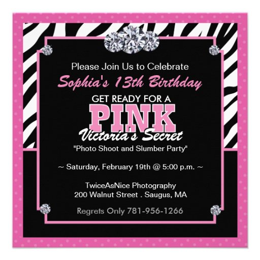 Zebra Birthday Party Invitation Templates