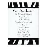 Zebra Print Birthday Party Invitation