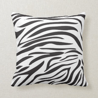 Zebra Print, Black and White Cushion