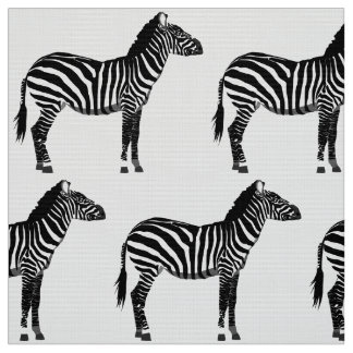 Zebra Print - Black and White Fabric