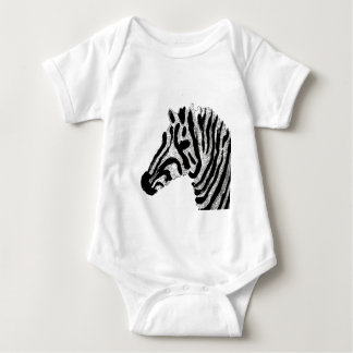 Zebra Print Black and White Stripes Baby Bodysuit
