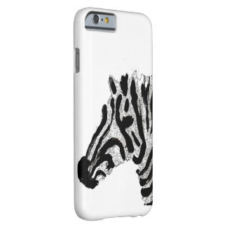 Zebra Print Black and White Stripes Barely There iPhone 6 Case