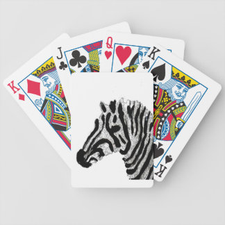 Zebra Print Black and White Stripes Bicycle Playing Cards