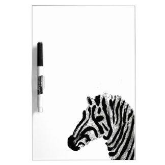 Zebra Print Black and White Stripes Dry Erase Board