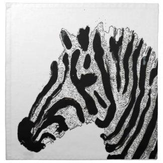 Zebra Print Black and White Stripes Napkin