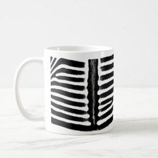 Zebra print (black) coffee mug