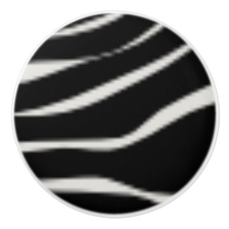 Zebra Print Ceramic Knobs