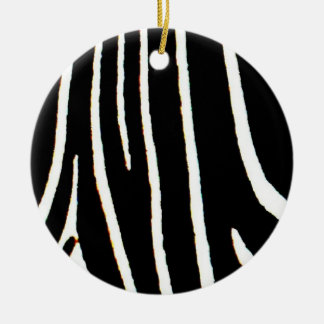 Zebra Print Christmas Ornament