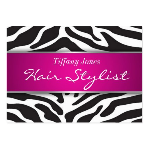 Zebra Print Cosmetology Appointment Card Business Card