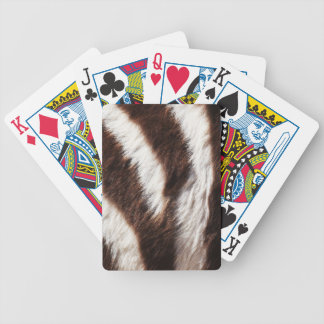 Zebra Print Custom Playing Cards