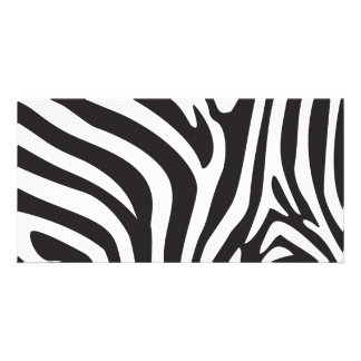 Zebra Print Customised Photo Card