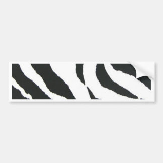 zebra print design bumper sticker