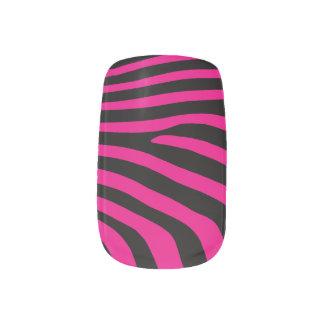 Zebra Print Design Minx Nail Art