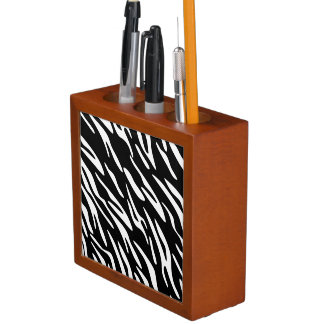 Zebra Print Desk Organizer