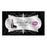 Zebra Print Ebony Glitter Cosmetology Pack Of Standard Business Cards