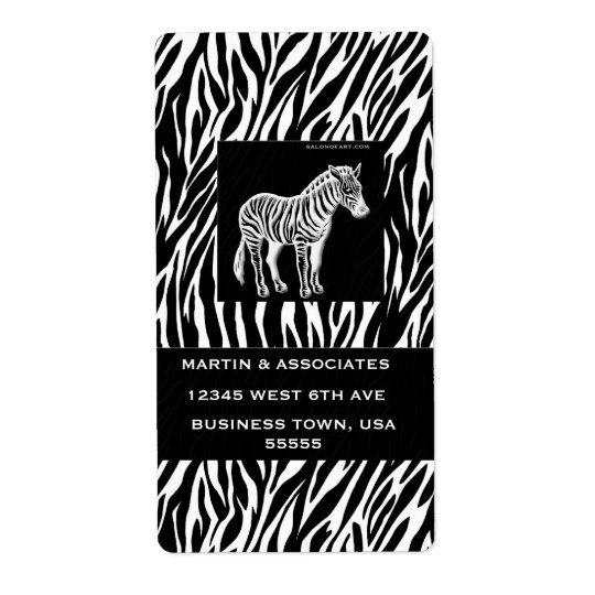 Zebra Print Executive Shipping Labels