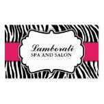 Zebra Print Fashion Hot Pink Elegant Modern Classy Pack Of Standard Business Cards