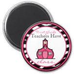 Zebra Print First Grade Teacher Magnet