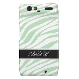 Zebra Print Green White Droid RAZR Case