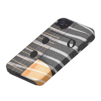 Zebra Print Guitar with Notes Case-Mate iPhone 4 Cases
