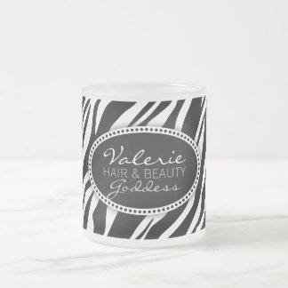 Zebra Print Hair & Beauty (Custom) Mug