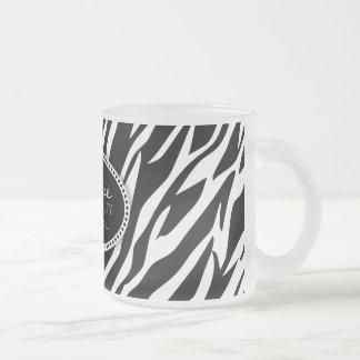 Zebra Print Hair Beauty Custom Mug