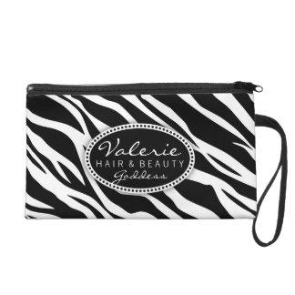 Zebra Print Hair Salon or Stylist (Custom) Bag Wristlet Purse