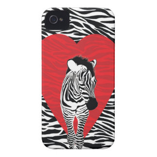 zebra print heart iphone case