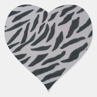 Zebra Print Heart Stickers