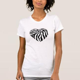 Zebra Print Heart Women's Tank Top