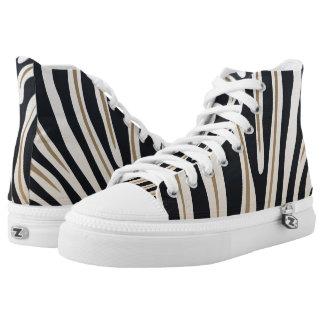 Zebra Print High Top Shoes Printed Shoes