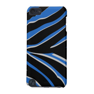 Zebra Print in Blue iPod Touch 5G Cases
