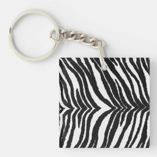 Zebra Print Key Ring