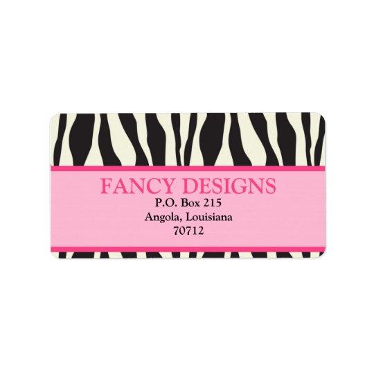 Zebra Print Label
