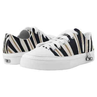 Zebra Print Low Top Shoes Printed Shoes