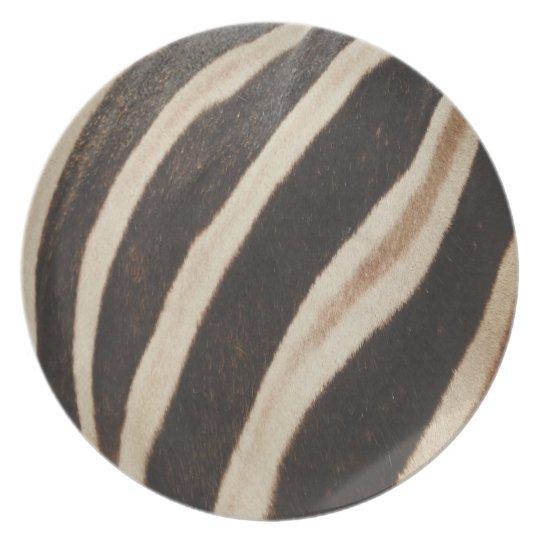 Zebra Print Melamine Plate